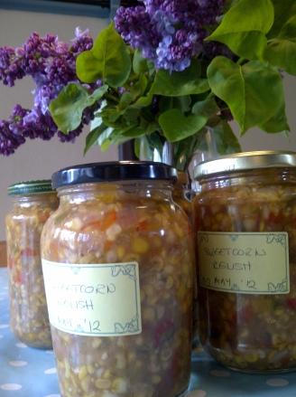 Image of jars of sweetcorn relish
