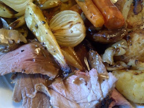 Image of roast lamb and roast veg