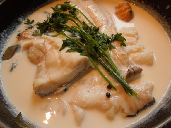 Image of cooked fish with herbs