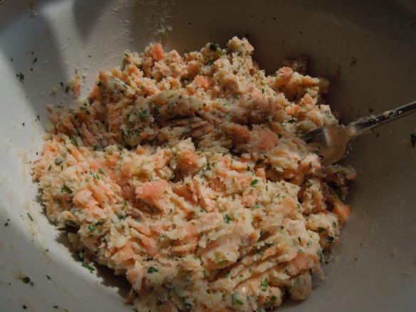 Image of the fishcake mixture
