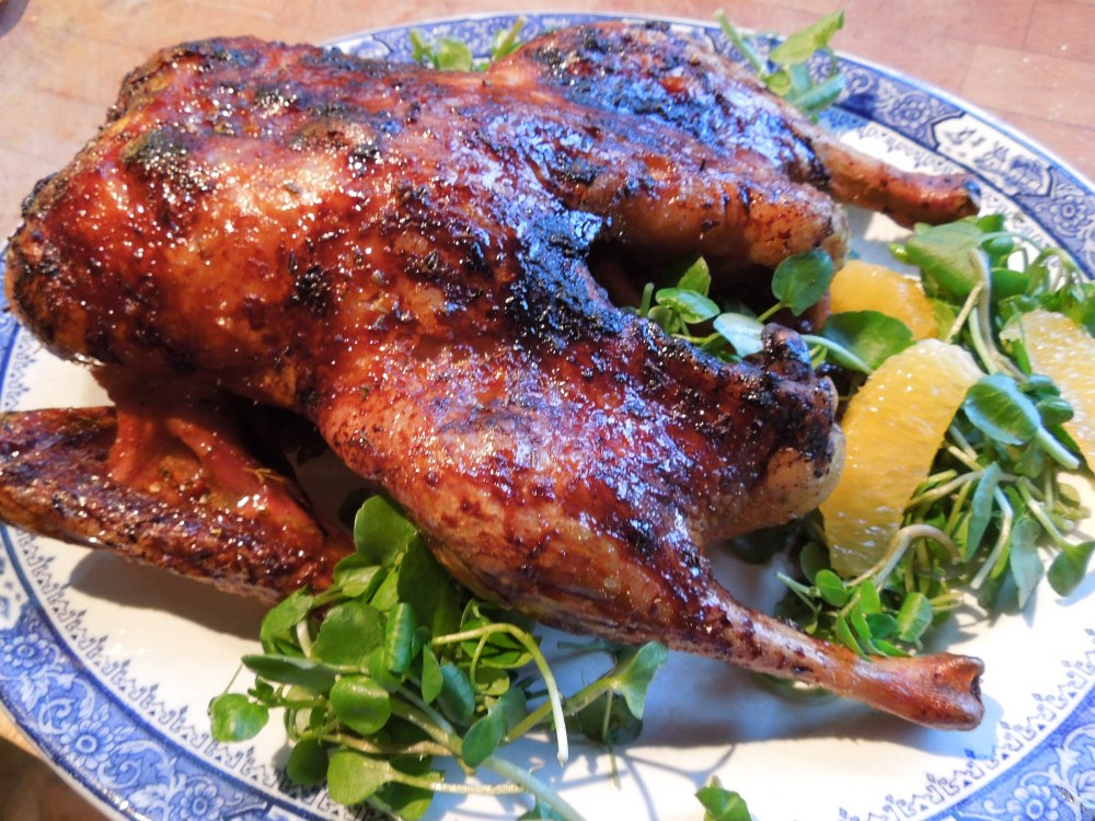 Image of roast duck with maple glaze