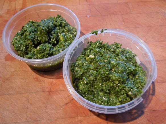 Image of tubs of pesto