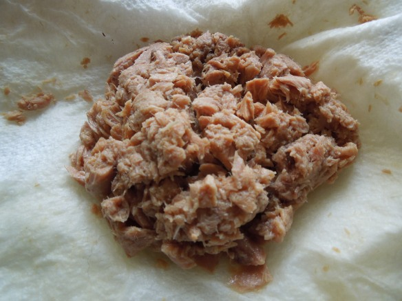 Image of drained tuna