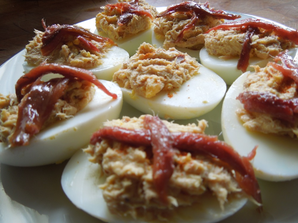 Image of tuna stuffed eggs