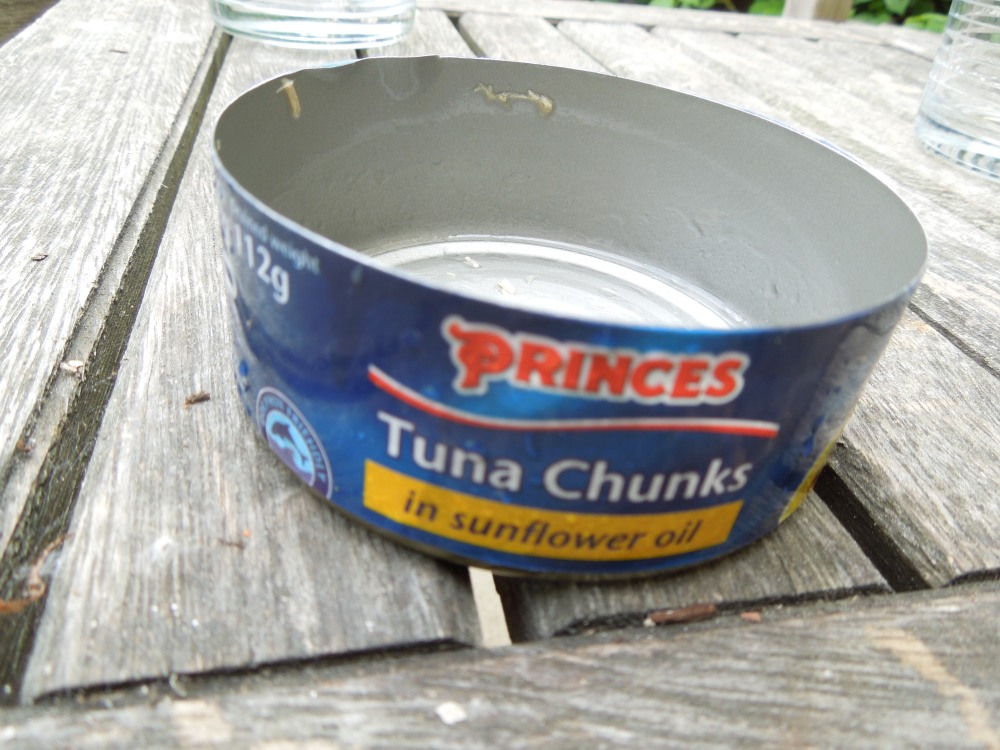Image of an empty tuna tin