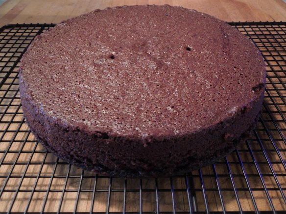Image of cake cooling on a rack