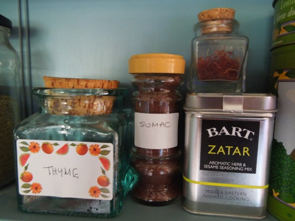 Image of spices on a shelf