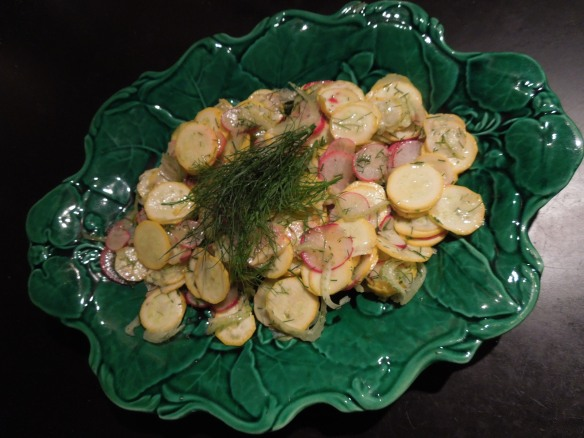 Image of raw courgette fennel and radish salad