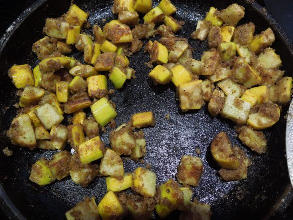 Image of spicy fried courgettes