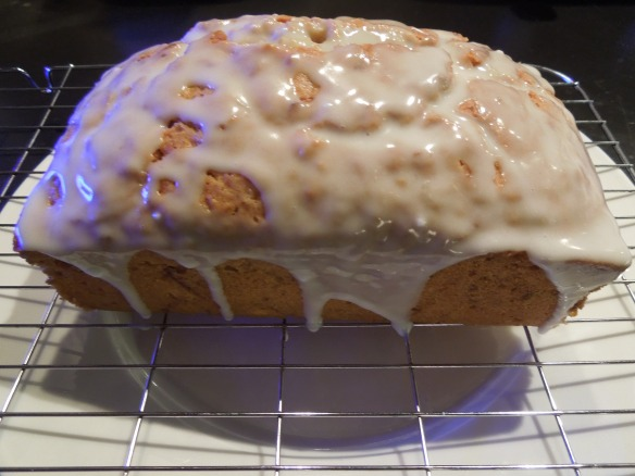 Image of lemon courgette cake with lemon drizzle icing