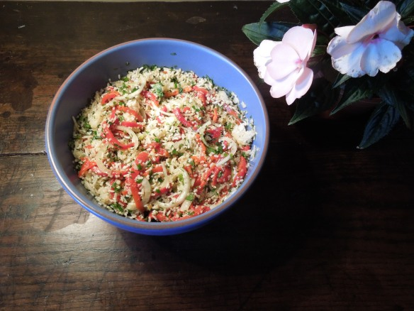 Image of rice and red pepper salad