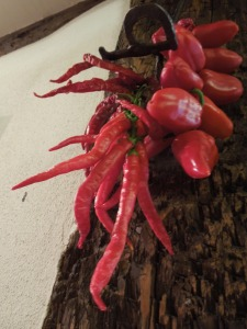 Image of chillies hanging up to dry