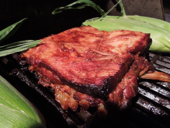 Image of pork on the barbecue