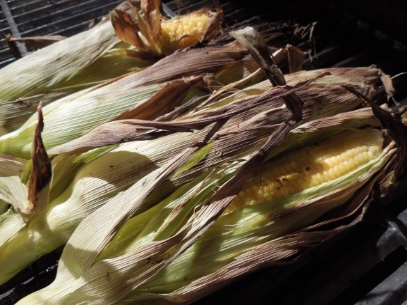 Image of barbecued sweetcorn