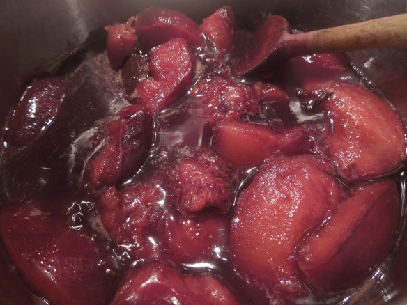 Image of plum sauce cooking