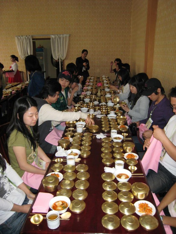 Image of North Korean feast