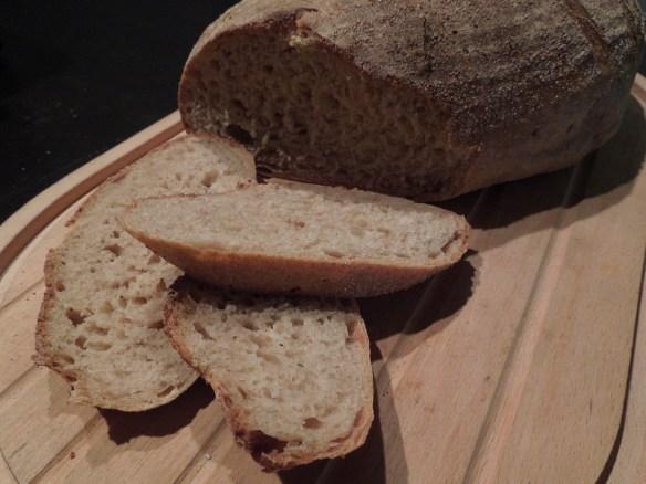 Image of sliced sourdough loaf