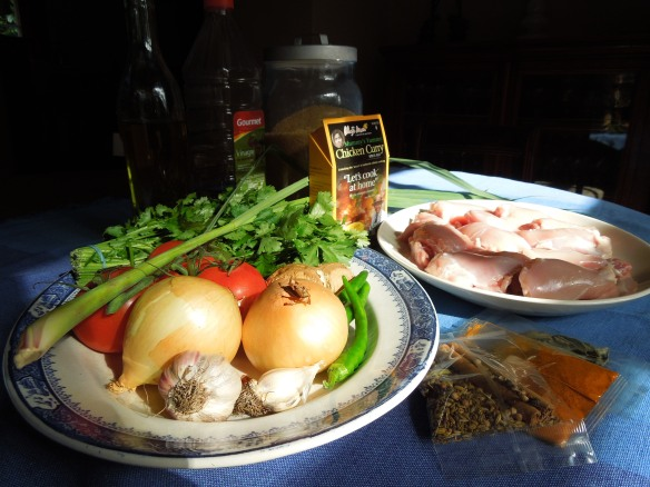 Ingredients for one of Don's curries