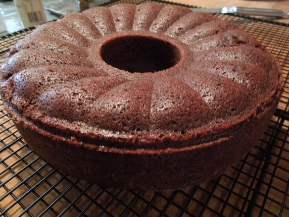 Image of cake cooling on rack