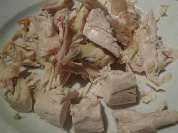 Image of chicken cut into bite-sized pieces