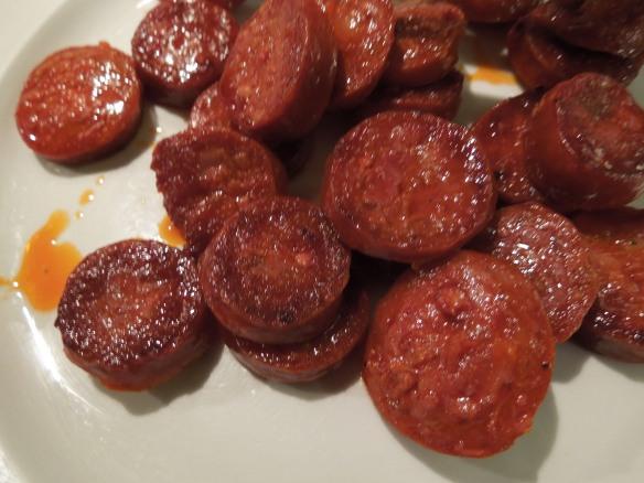 Image of sauteed chorizo slices
