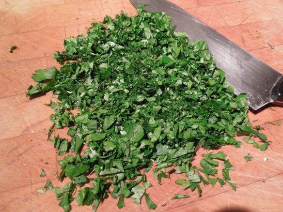 Image of chopped parsley