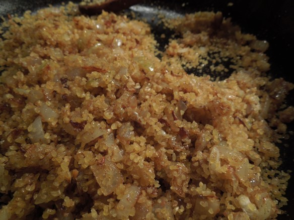 Image of bulghar wheat cooked with onions and spices