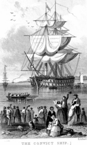 Image of illustration of convict ship