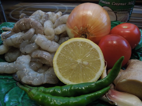 Prawn curry ingredients
