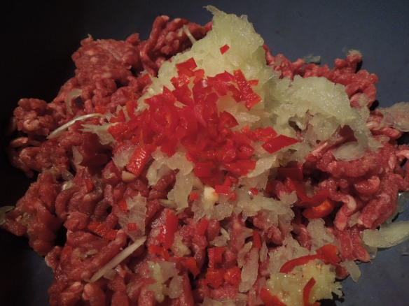 Image of minced beef with onions and chilli