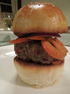 Image of burger in a bun