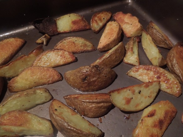 Image of cooked potato wedges