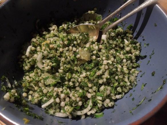 Image of mograbiah salad