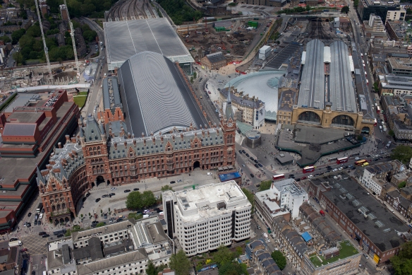 Image of Kings Cross from the air