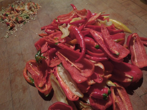 Image of deseeded chillies