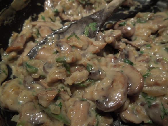 Image of mushrooms a la creme