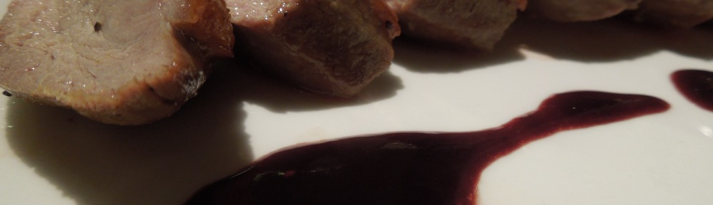 Image of sliced duck breast with vino cotto