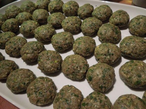 Image of mini lamb burgers before cooking