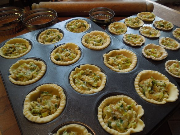 Image of filled tartlets ready for the oven