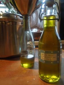 Image of oil being bottled