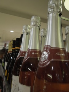 Image of champagne bottles