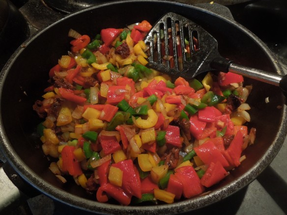 Image of vegetables sauteeing