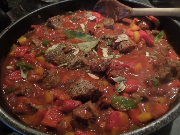 Image of stew with added herbs