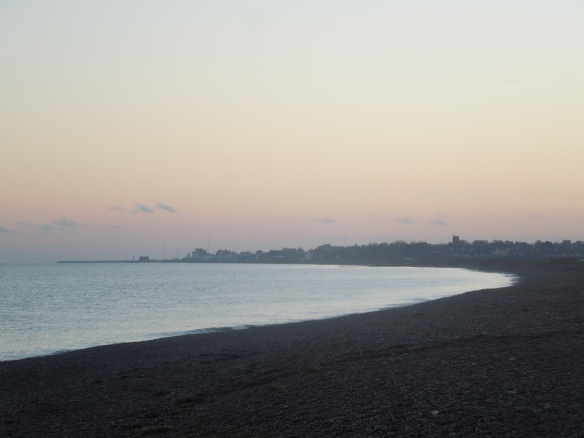 Image of the beach looking towards Aldburgh