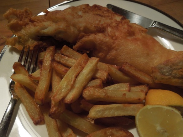 Image of fish and chips on a plate