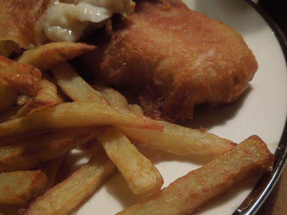 Image of beer-battered fish and chips