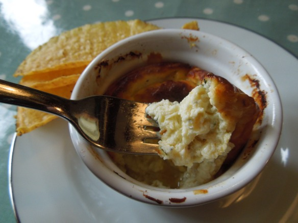 Image of a forkful of souffle
