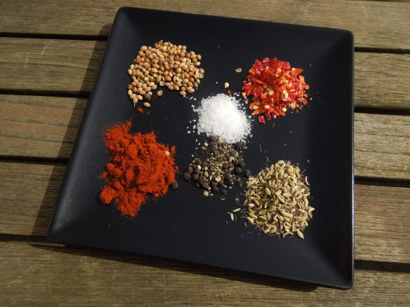 Image of the spices for the rub