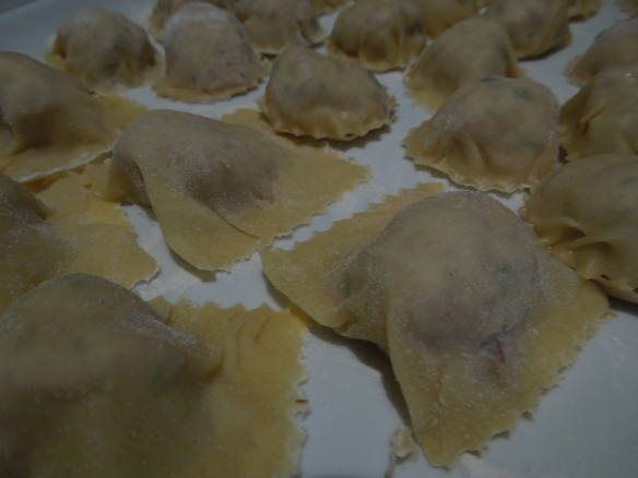 Image of a plate of uncooked ravioli