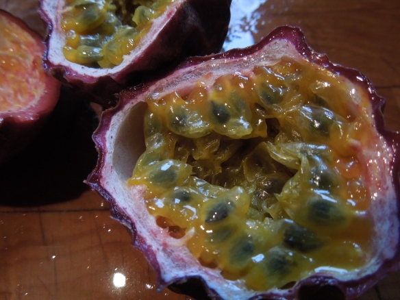 Image of halved passion fruit